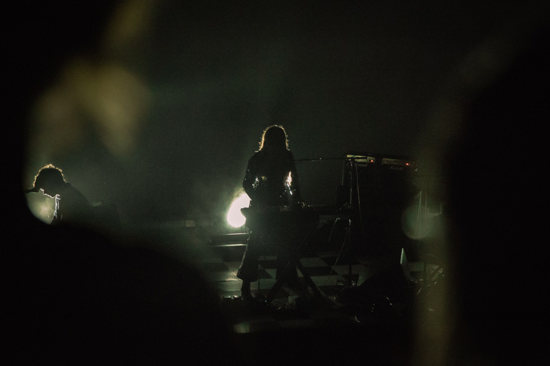 True to form, Beach House performed backlit for their entire opener.
