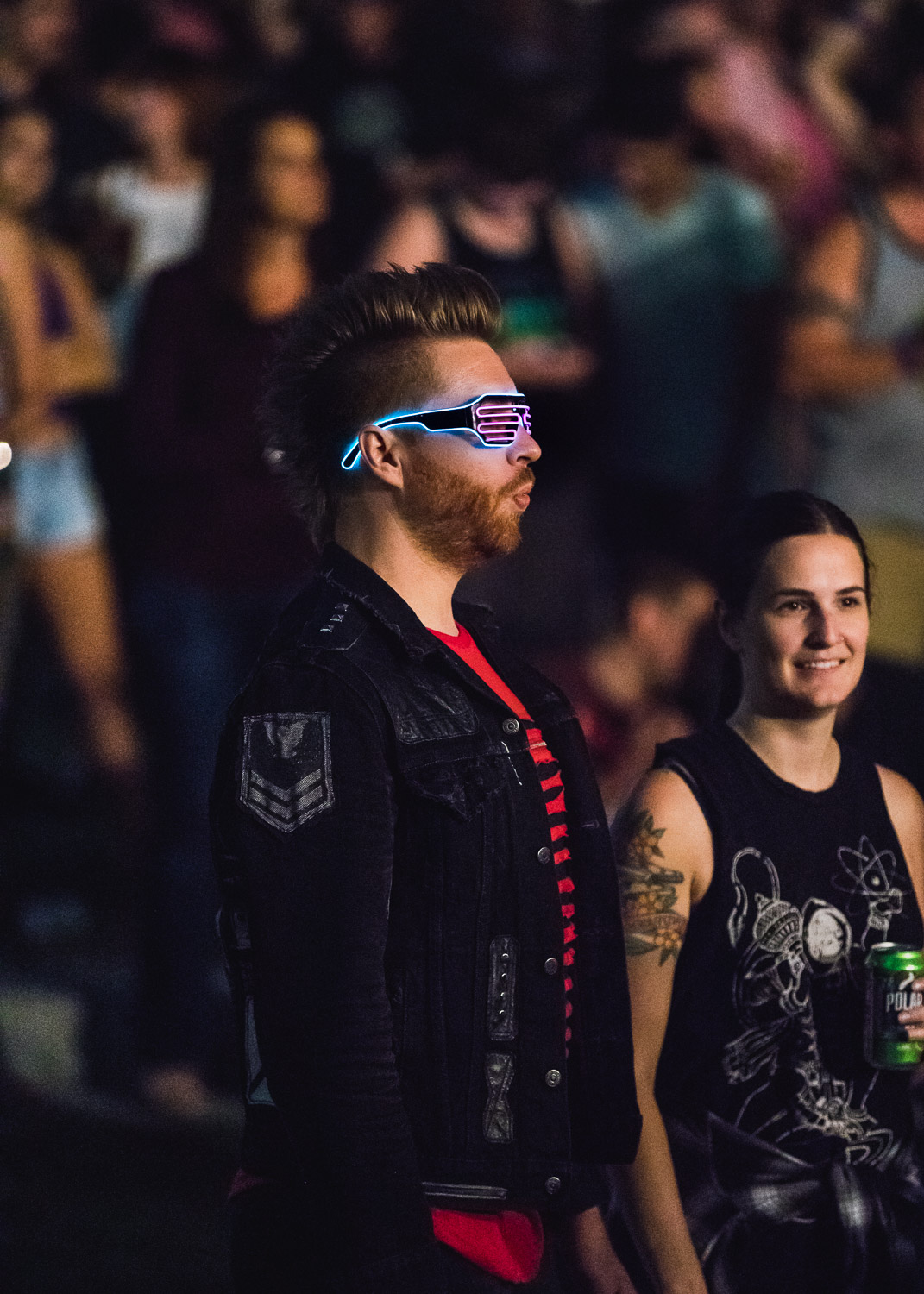 Audience member sports some amazing eyewear for the Robert DeLong show. Photo: Logan Sorenson | Lmsorenson.net