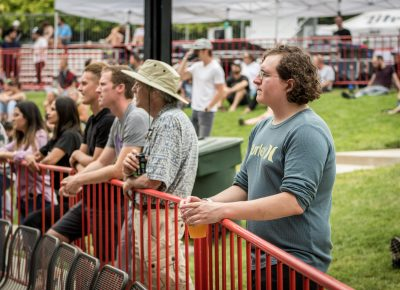Twilight goers listen to good tunes while enjoying a local beer.