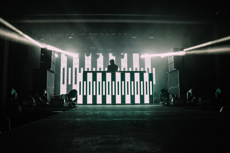 Diplo kept it mostly monochromatic with black and white lights.