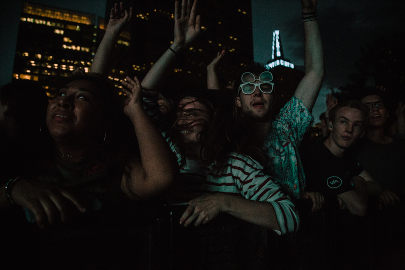 Fans dancing to Diplo's set.