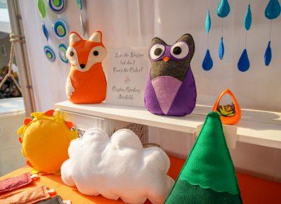 B's wonderful orange fox and owl.