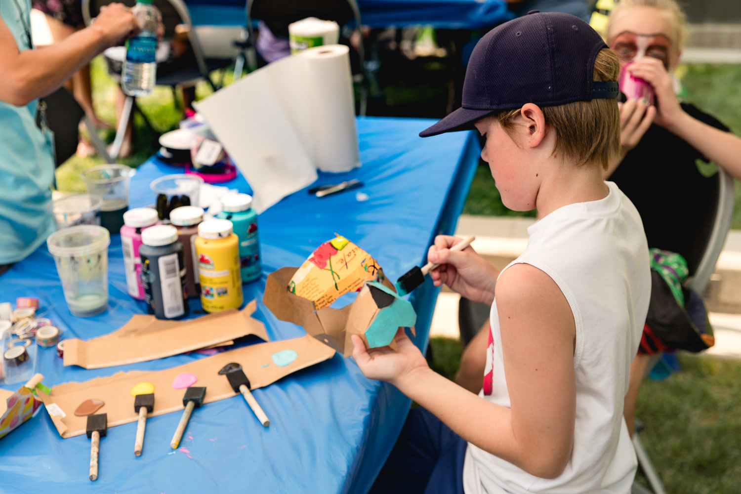 Kids at the Craft Lake City DIY Festival are able to craft their own masks and paint them as they wish! Photo: Lmsorenson.net