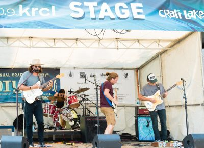 On the KRCL stage, Say Hey lays down some music for the festival goers. Photo: Lmsorenson.net