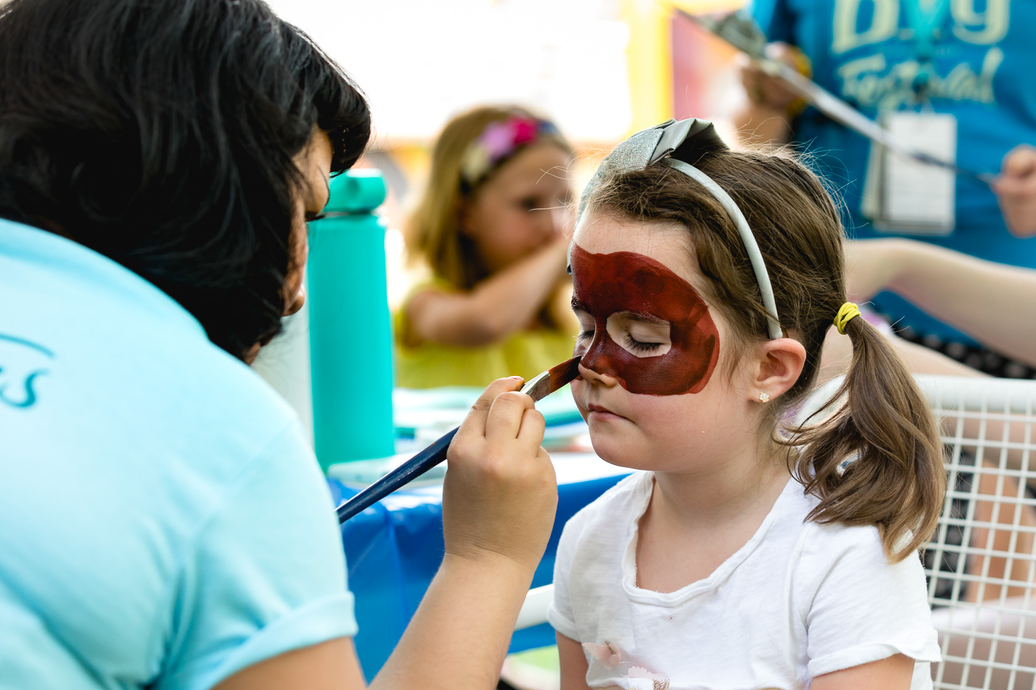Face painting is always the most popular attraction at the kids area in the DIY Festival. Photo: Lmsorenson.net