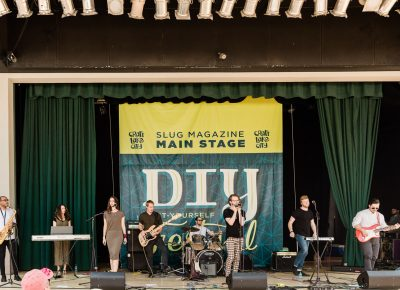 Jake Chamberlain and the Heist playing on the SLUG Magazine stage. Photo: Lmsorenson.net