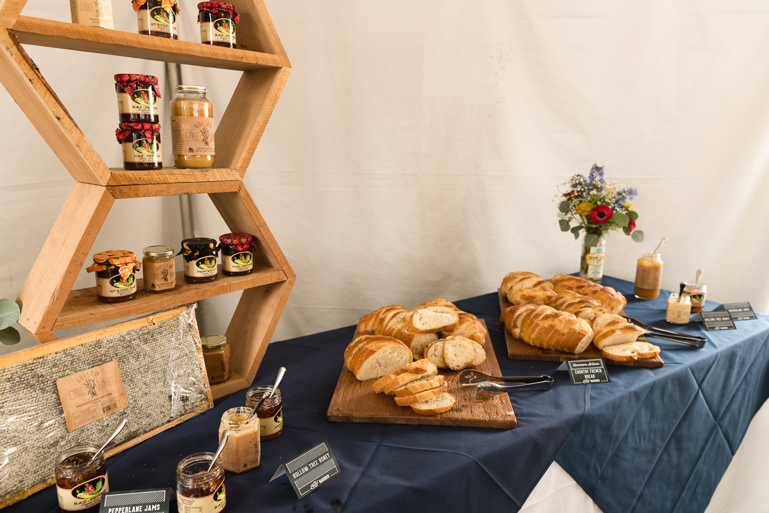 Breads, jams and butter are available to VIPS courtesy of Harmon's. Photo: Lmsorenson.net