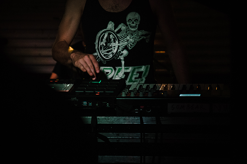 Operating the synths and loops at the core of Now, Now's sound.