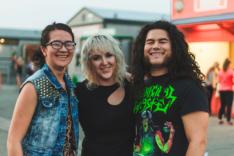 (L–R) Alysse, Samantha and Robert Gray are all part of the Salt Lake Association of Music Merchants (SLAMM), who are hosting a guitar-building competition on Aug. 18.