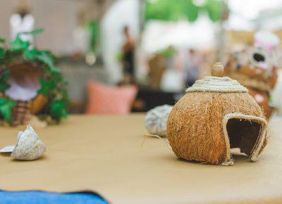 Mini coconut house makes me smile.