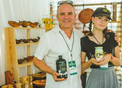 In addition to his woodcraft Alan Peck also makes Peck's vanilla with some help from his daughter.
