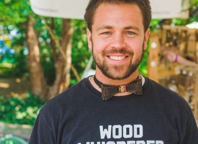 "Leon the ""Wood Whisperer"" sports one of his bowties."