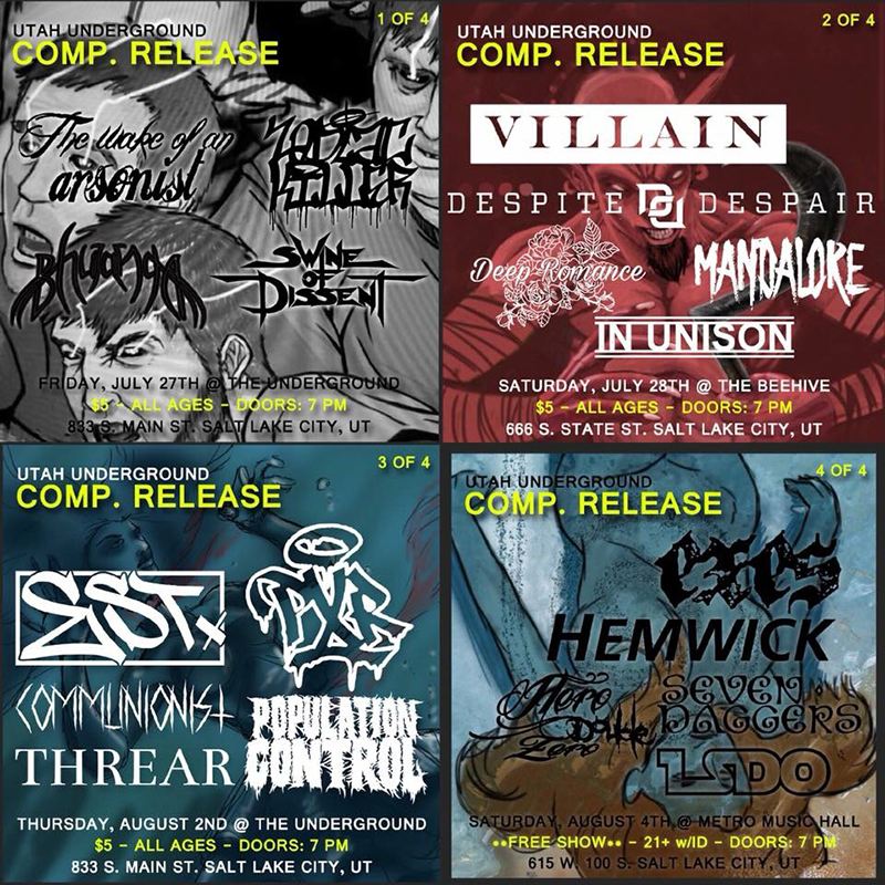 Utah Underground Compilation: The State's Metal, Punk & Hardcore Exports Reach the Surface