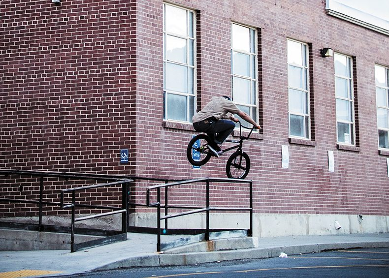 Brady Tweedy – Rail Hop – SLC, Utah. Photo: Jon Tinsley