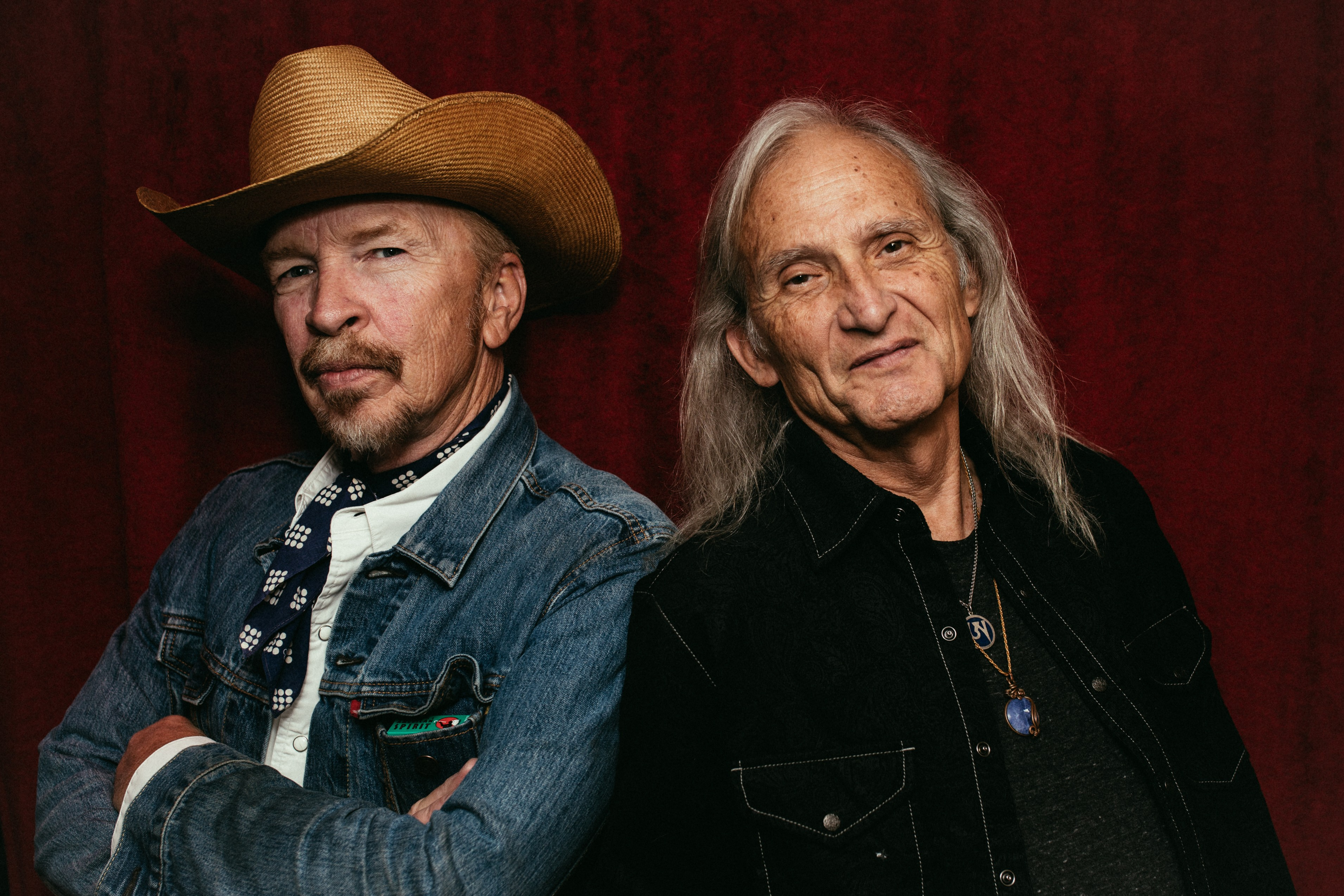 (L-R) Dave Alvin and Jimmie Dale Gilmore. Photo: Daniel Jackson