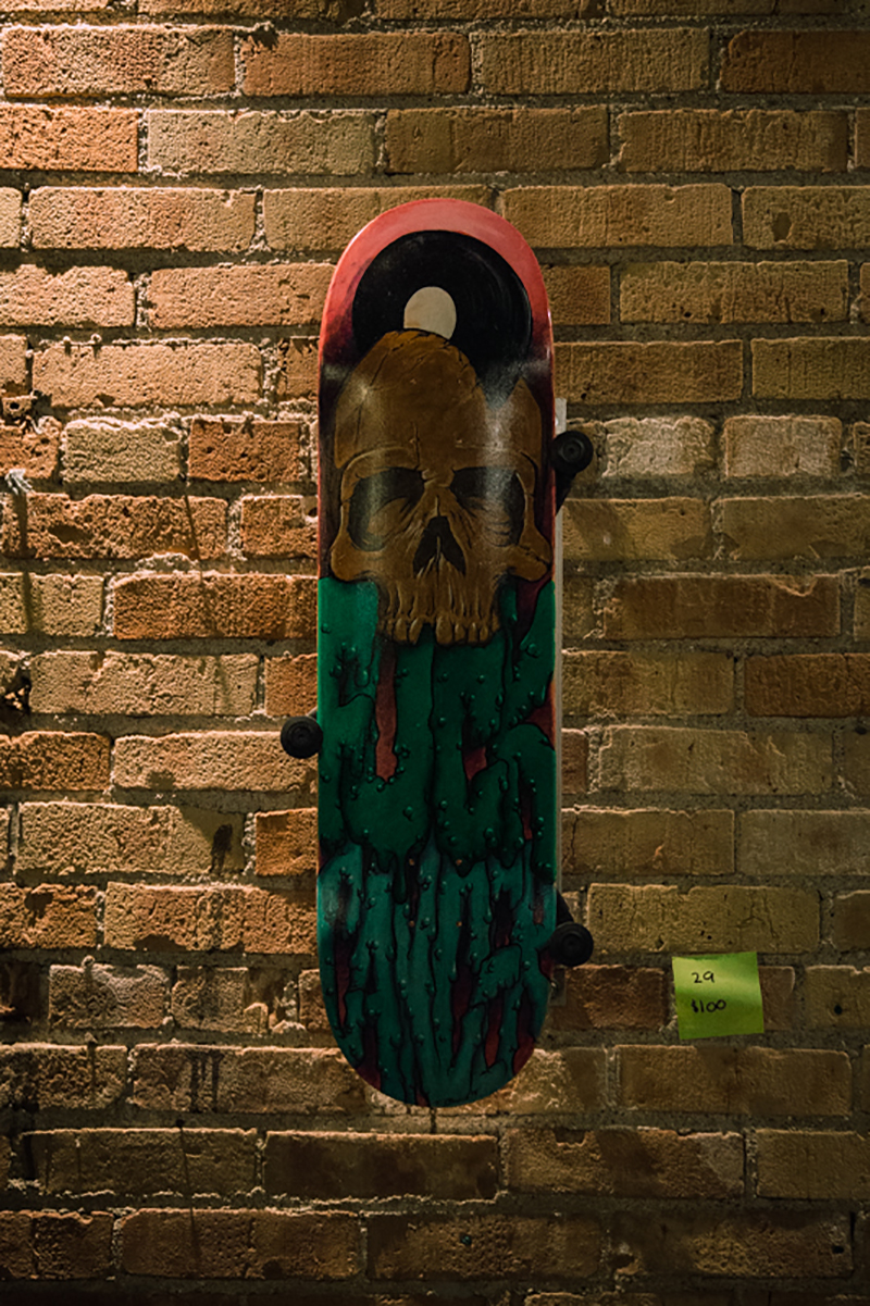A customized deck up for auction.