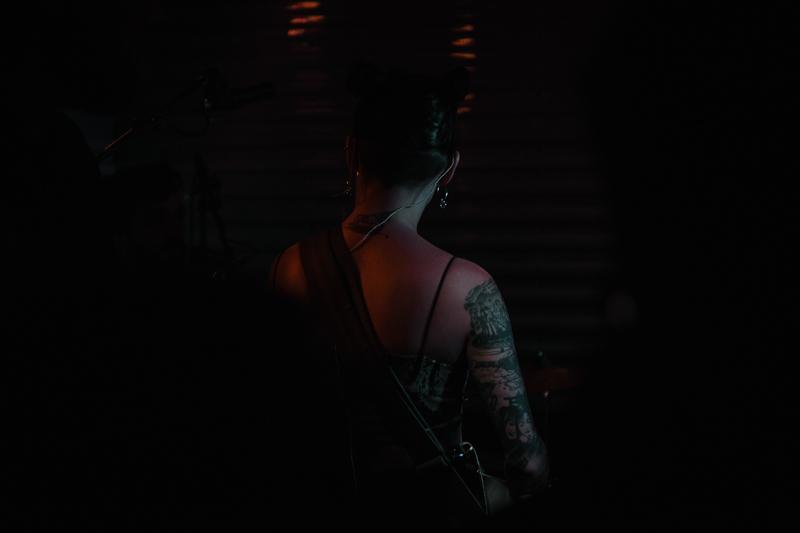 A glimpse of Zauner's numerous artful tattoos.
