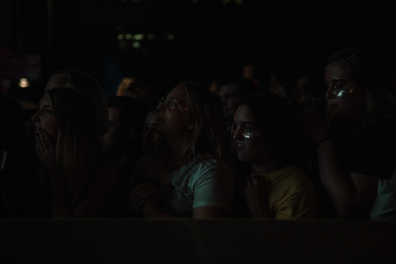 Captivated fans at the King Princess set.