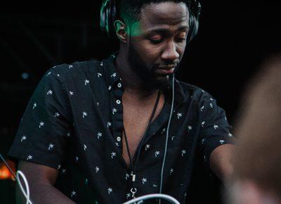 DJ Jarvicious providing a soundtrack for sundown.