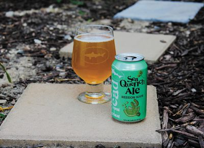 SeaQuench Ale pours a light-straw yellow that falls on the hazy side of the spectrum. Photo: Chris Hollands