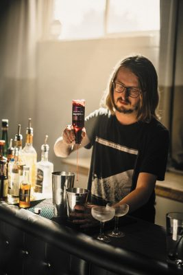 As Crybaby Bitters, Cody Kirkland has innovated a fruit punch bitters for fun, straightforward cocktails across the board—but feel free to get fancy with 'em! Photo: Chad Kirkland