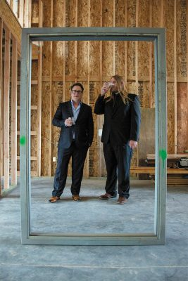 (L-R) Holystone Distilling Co-Owners Michael DeShazo and Head Distiller Ethan Miller are nearing the commercial opening of the distillery. Photo: Jessica Bundy