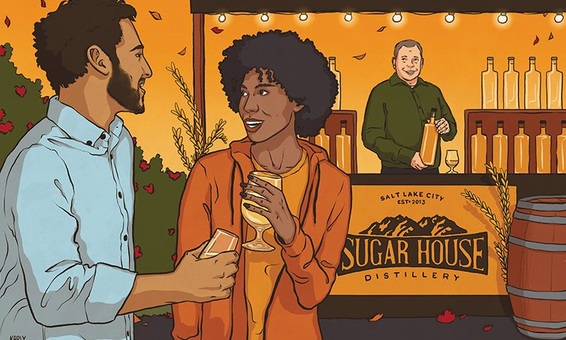 This past Brewstillery event in May really opened Sugar House Distillery up to a group of people we have not been able to get in front of at other events. Illustration: Karly Tingey