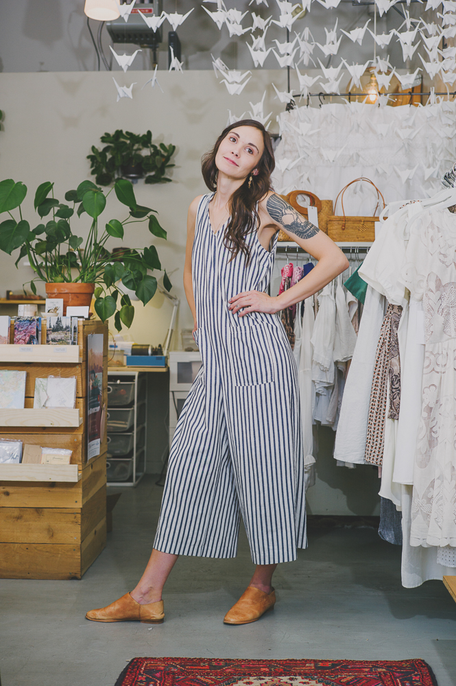 """All the vintage clothes in Atelier are Scoutt Shop. So Scoutt Shop started as an online shop and then within the last year has grown a big following just off of being inside that shop,"" says Hunsaker. ""I want modern and vintage timeless pieces that anybody can wear for day or night."" Photo: @clancycoop"