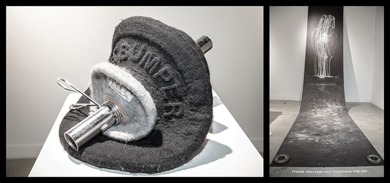 "Molly Morin, (L–R) ""6 x 5"" and ""Pull, Shrug, Power, Jerk"" from Information Density, 2018. Photos: John Barkiple"