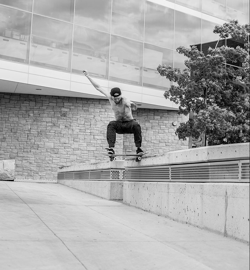Kendall Woodhouse – Nose Slide – SLC, Utah. Photo: CJ Anderson