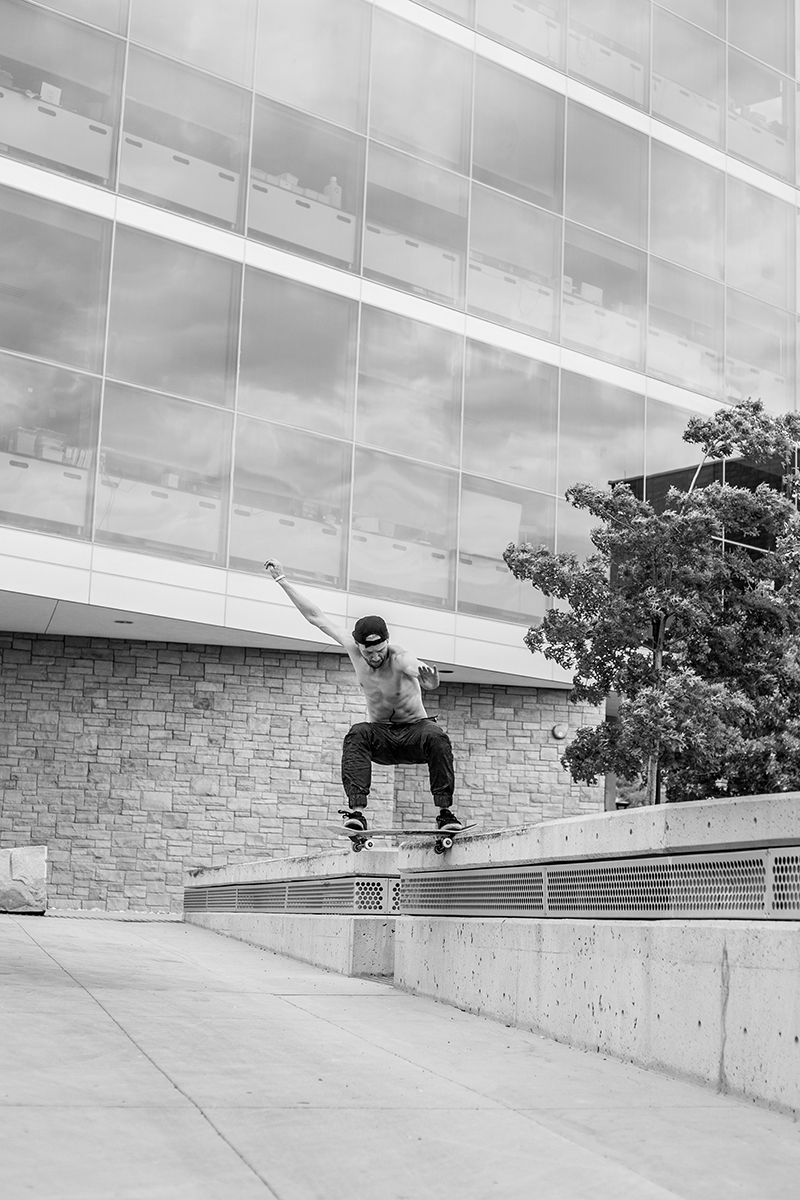 Kendall Woodhouse – Nose Slide – SLC, Utah. Photo: CJ Anderson