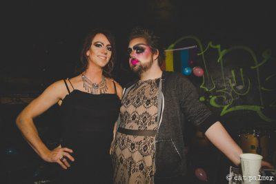 (L–R) Sofia Scott and Wade Leavitt aka The Harlot co-host both 2017 and 2018's Transgiving. Photo courtesy of Cat Palmer.