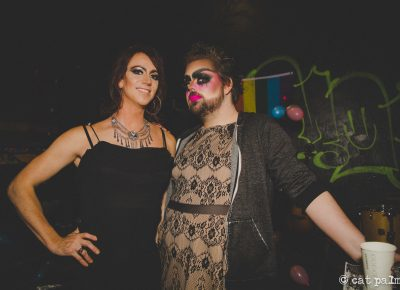 (L–R) Sofia Scott and Wade Leavitt aka The Harlot co-host both 2017 and 2018's Transgiving. Photo courtesy of Cat Palmer.