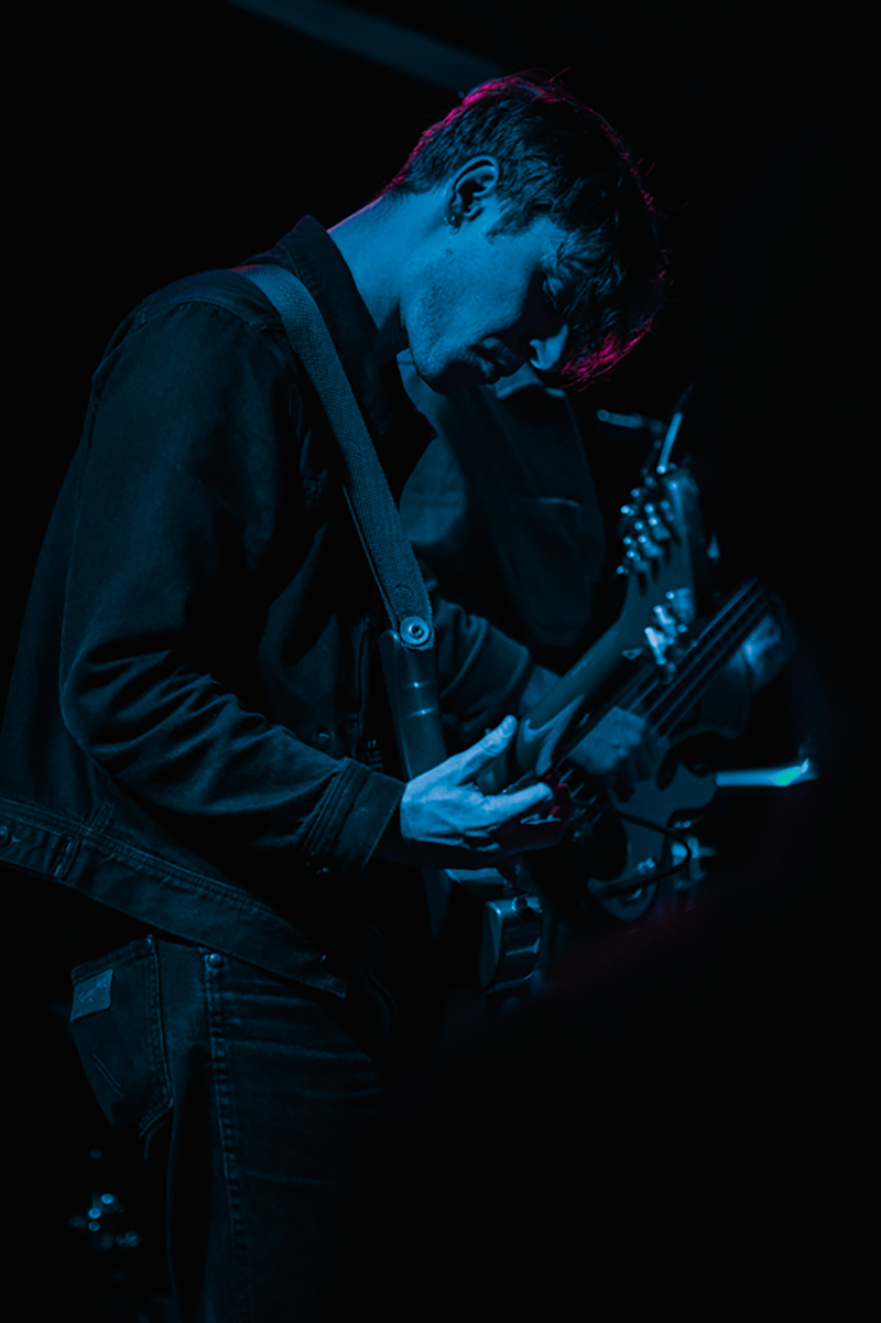 Nathan Goodman propping up the band with dreamy, reverb-washed guitar riffs.