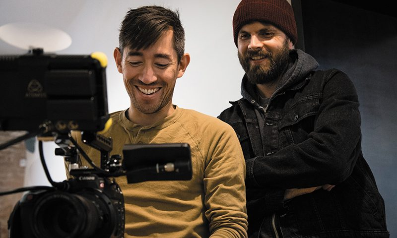 (L–R) Kenny Riches and Matt Wigham seek to empower independent filmmakers via their film-production company, Dualist, in Utah and beyond. Photo: Matthew Hunter