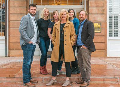 (L–R) John Holliday, Syd Smoot, Melissa Jackson, Virginia Pearce, Christina Martin and Derek Mellus. Photo: Talyn Sherer