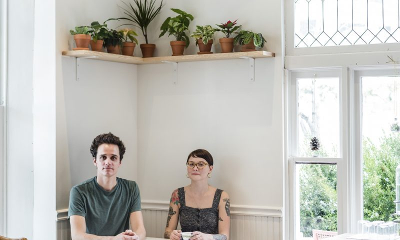 (L–R) Milo Carrier and Elaine Sayer nestled into one of The Dayroom's well-lit nooks. Photo: Malissa Mabey @lissmabey