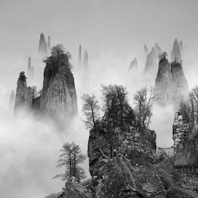 "Yang Yongliang, ""The Path"" from the series salt 14: Yang Yongliang 2016."