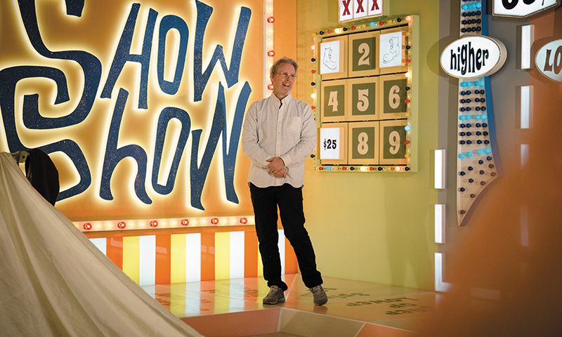 Director/set designer David Brothers has based his upcoming fi lm, What a Show Show, on '70s game shows, their colorful stages and the hysteria that they engender. Photo: Matthew Hunter