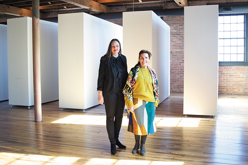 (L–R) Shalee Cooper and Diane Stewart work together to build Modern West into a fruitful contemporary art resource for the community. Photo: @cezaryna
