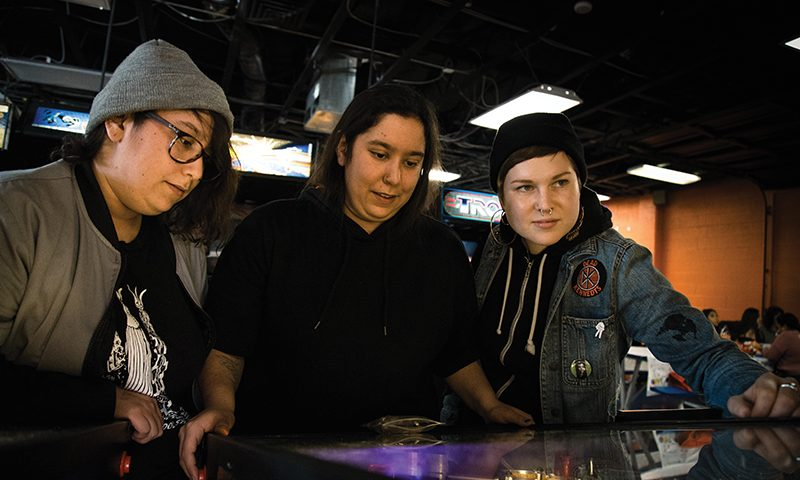 (L–R) Tut Lopez, Alex Lopez and Summer Sigritz form their ambient music in Savage Daughters to express their deepest feelings. Photo: Matthew Hunter