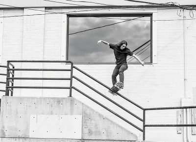 Kaio Hardman – Frontside Boardslide – Millcreek, Utah Photo by CJ Anderson