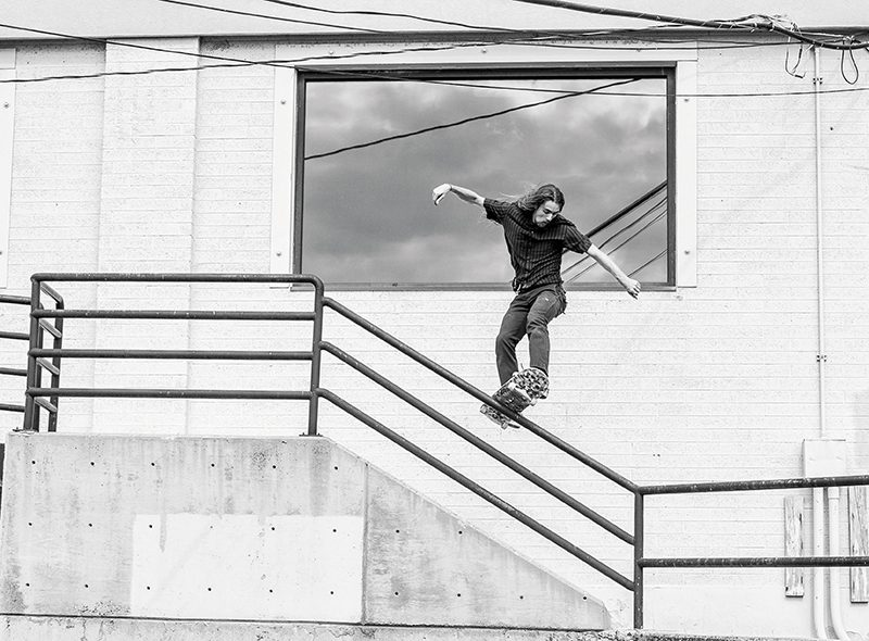 Kaio Hardman – Frontside Boardslide – Millcreek, Utah Photo by CJ Anderson