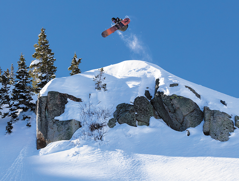 Sam Taxwood – Frontside 3 – Brighton Resort Backcountry, Utah Photo by Jack Dawe