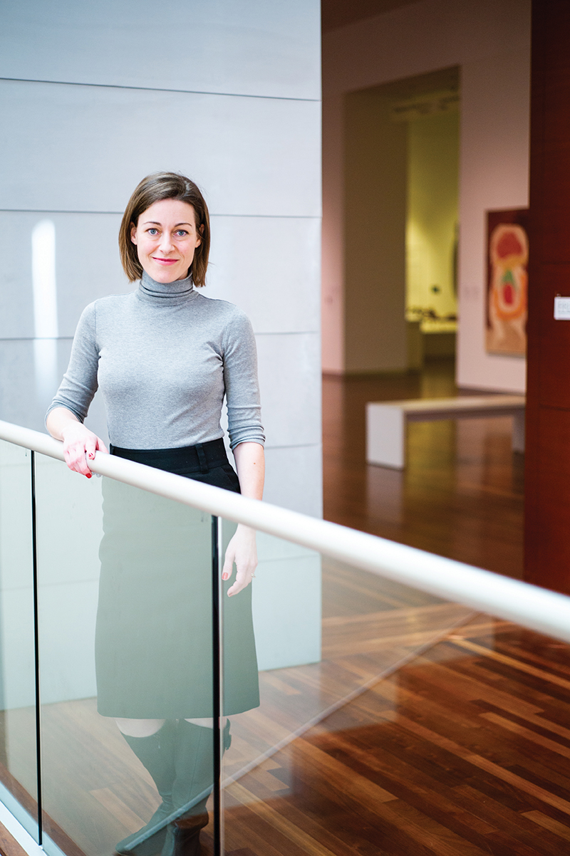 Whitney Tassie, UMFA Senior Curator, works with colleagues in the Department of Art and Art History to review applications and select those who will create the LeWitt drawing.