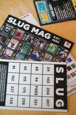 Our throwback bingo cards are a blast from SLUG's past.