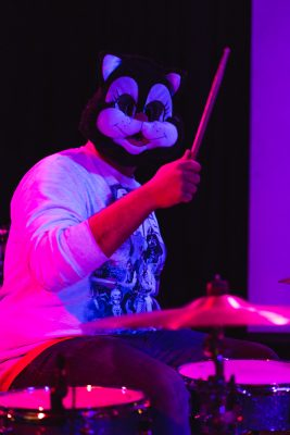 Cool Banana's cat drummer was on point throughout the night.