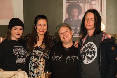 (L-R) Alex Topolewski, SLUG Executive Editor Angela Brown, Lindsay Heath and Sofia Scott enjoy some good drinks and good company over at the bar.