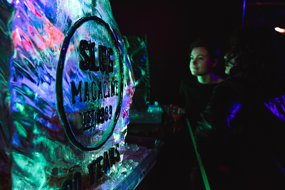 The line for the Jager Bomb Ice Luge kept growing throughout the night.