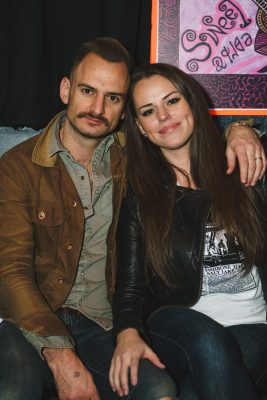 (L-R) SLUG writer and photographer extraordinaire Tyson Call poses with his wife Courtney.